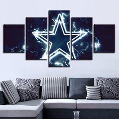Dallas Cowboys American Football 5 Panel Canvas Art Wall Decor for fans Cheap Wall Art, Wall Art For Sale, Room Wall Decor, Living Room Decor, Dining Room, Canvas Wall Art, Wall Art Prints, Canvas 5, Canvas Paintings