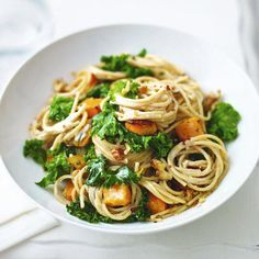 Kale and roasted butternut pasta, a delicious recipe from the new Cook with M&S app.