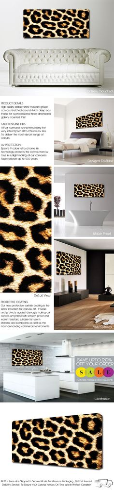 Leopard Print Canvas @Samantha @This Home Sweet Home Blog Shupe