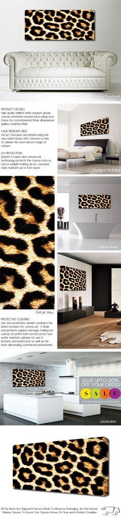 Leopard Print Canvas @Samantha @This Home Sweet Home Blog Shupe