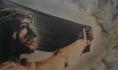La crocifissione.  Matite e acquerelli