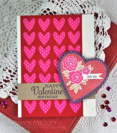 Happy Valentine Birthday Card by Dawn McVey for Papertrey Ink (February 2014)