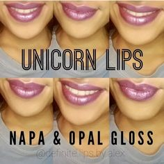 Unicorn lips with LipSense. Napa and Opal gloss! Napa Lipsense, Beauty Secrets, Beauty Hacks, Senegence Makeup, Senegence Products, Gluten Free Makeup, Lip Sence, Shadow Sense, Cruelty Free Makeup