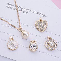 lureme®gold colgante collar de perlas chapado (5 piezas de c... – MXN $ 79.48
