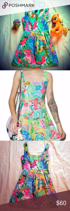"💖NWOT💖IRON FIST My Little Pony Pin-Up Dress! 💖Iron Fist's ""My Little Pony Dress"" is an essential addition to any sparkle pony's boudoir. This classic circle skirt dress features an all over pony print w/ a square cut tank top &  flattering mid waistline that will make you look tall & lean like any show pony. Form contouring paneled construction, hidden side zipper, fully lined,  built in pleats...this is built for a Pin-Up w/ a youthful beauty in mind! Never Worn, No Tags, Closet-Kept…"