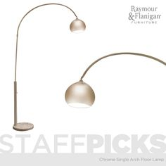 Chrome Single Arch Arm Floor Lamp  | This gorgeous floor lamp is the perfect way to make a style statement without utilizing a ton of space. #myrfholiday #SweepsEntry