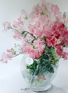 I like the crispness of the vase and the fading to a soft background