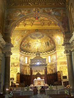 Santa Maria in Trastevere, Rome, Italy.