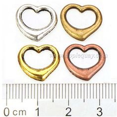 Zinc Alloy Heart Love Ring Beads,Plated,Cadmium And Lead Free,Various Color For Choice,Approx 13*12*3.5mm,Sold By Bags,No 001118