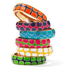 Colorful, bold bangles will take any outfit up a notch. At this price, why not buy a few?