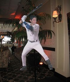 Baseball Bar Mitzvah Party Decorations - Child Photo Stand-Up by Where The Art Is - mazelmoments.com