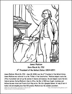james madison wordsearch worksheets coloring pages