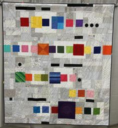 Title: Coded Paragraph  Made andQuiltedby Joel Ignacio    Vallejo, California, USA  East Bay Modern Quilt Guild