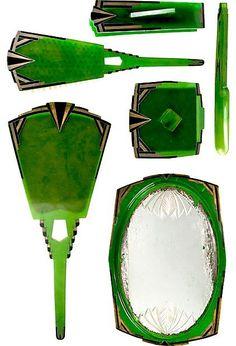 Agalin La Futuriste Art Deco Vanity Set