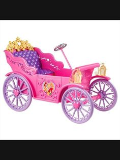 """Disney Princess Vehicle - Royal Car - Mattel - Toys """"R"""" Us Disney Princess Carriage, Disney Princess Toys, Disney Toys, Disney Princesses, Princess Pics, Princess Castle, Princess Party, Toy Cars For Kids, Cool Toys For Girls"""