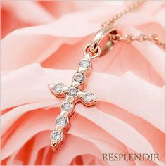Rakuten: Diamond necklace pink gold cross antique [the jewelry which I want to put on in summer]- Shopping Japanese products from Japan