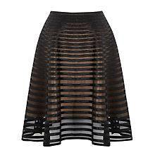 Buy Somerset by Alice Temperley Ribbon Mesh Skirt, Black Online at johnlewis.com