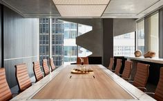 Conference Table - Eames Chair - Brass Tray - Corporate Interiors - Office Ideas - Commercial Design