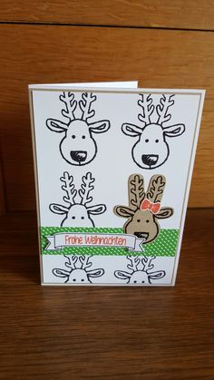 Weihnachtskarte Hirsch Snoopy, Fictional Characters, Xmas Cards, Xmas, Craft, Fantasy Characters