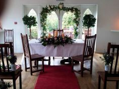 Did you know we also cater for civil ceremonies here at Barnabrow house! Couples have transformed our light filled conservatory with flowers and candles to ensure a certain spiritual essence for their marriage ceremony. Opening its doors during warm weather brings the outside in. The conservatory seats 75-85 people; spiritualists perform legal ceremonies on Saturdays. Call us now for more details!