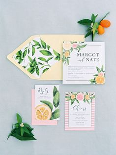 citrus themed weddin