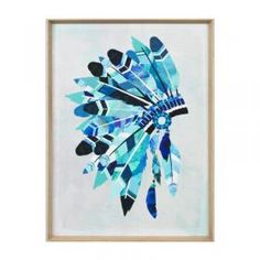 Vibrant Headdress | Aqua | Framed Print | Matthew Thomas
