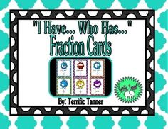 """Identifying Fractions with """"I Have. Multiplication, Fractions, Co Teaching, Addition And Subtraction, Word Problems, Task Cards, Special Education, Division, Track"""