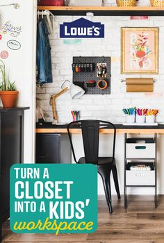 No room for virtual learning? Think again! See how you can transform a closet into an A+ workspace for your kids.