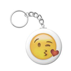 Face Throwing A Kiss Emoji Key Chain