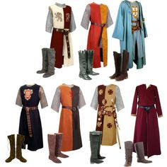 Surcoat inspiration different styles.