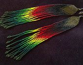 "Maui Swan Designs ""Island Vibe"" Long 15/0 Seed Bead Earrings"