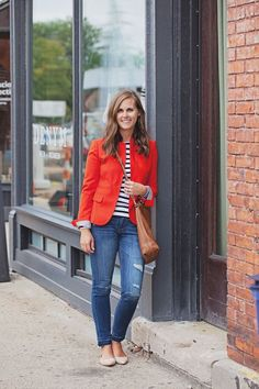 jillgg's good life (for less) | a west michigan style blog: my everyday style: a red blazer!