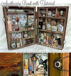 Alpha Stamps News » Apothecary Book Tutorial by Laura Carson!