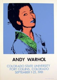 Warhol Kimiko Powers 1981 from ANDY WARHOL Art Print and Wallpapers