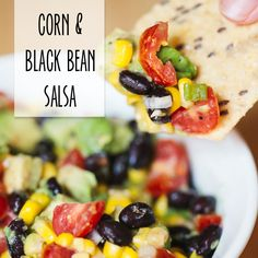 corn and black bean salsa (would also be amazing on top of lettuce for a salad)