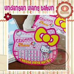 Undangan tema hello kitty