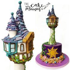 Rapunzel Tangled inspired birthday cake made with Satin Ice Fondant Disney Themed Cakes, Themed Birthday Cakes, Disney Cakes, Birthday Cake Girls, Rapunzel Birthday Cake, Rapunzel Cake, Tangled Birthday Party, Rapunzel Dress, Satin Ice Fondant