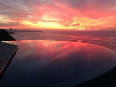 Beautiful sunsets at Casa Melissa vacation rental San Pancho, Mexico #casamelissa #sanpancho #nayarit #infinitypool