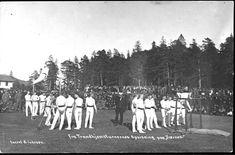 """Nord-Trøndelag fylke Verdal kommune TRONDHJEMSTURNERNES Opvisning paa """"Værnes"""", sjeldent begivenhetskort Utg A. Iversen tidlig 1900-tall"""
