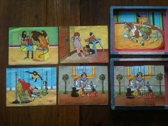 """Wooden puzzle """"Circus"""" ea 30s ...  Complete with 6 examples... #Woodenpuzzle"""