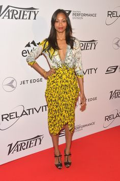 Zoe Saldana Zoe Saldana attends the Relativity at 10 party at Hotel du Cap-Eden-Roc on May 18, 2014 in Cap d'Antibes, France.