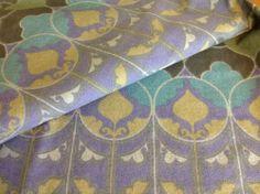 VTG Heals fabric material David Bartle 'Arabesque' 1960's barkcloth 1 metre
