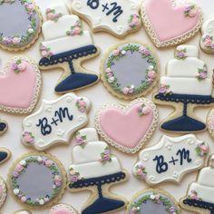 Cake Cookies, Sugar Cookies, Wedding Cookies, Birthday Cookies, Decorated Cookies, Cookie Decorating, Color Schemes, Desserts, Instagram Posts