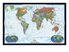 National geographic world political map decorator style giant world political map decorator style art print by national geographic maps at art gumiabroncs Choice Image