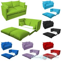 Slipcovers For Sofas Kids Children us Sofa Foldout Z Bed Boys Girls Seating Seat Sleepover Futon Guest