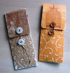 Emery Board Holder Gift Box -- follow link for how to    diy, tutorial, gift bag, packaging, rubber stamping