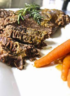 Best Beef Brisket Ever - Tender, juicy, easy to slice beef brisket with carrots (paleo, gluten-free, primal)