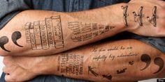 Temporary literary tats