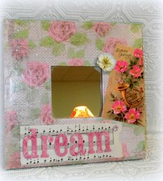 Shabby Cottage Chic Altered Art Mirror by LisasCraftiques on Etsy, $25.00