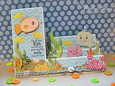 My Craft Spot: DT Post by Marlene - Super Cute Side step card!